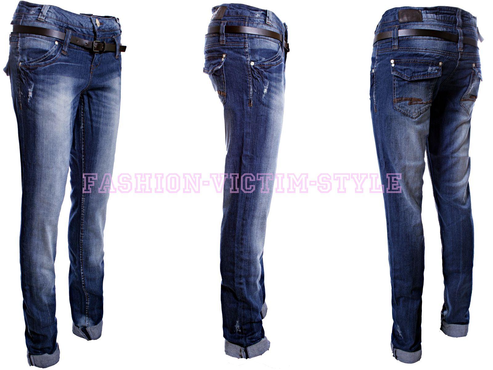 rock angel damen jeans loose fit jeans hose stretch. Black Bedroom Furniture Sets. Home Design Ideas
