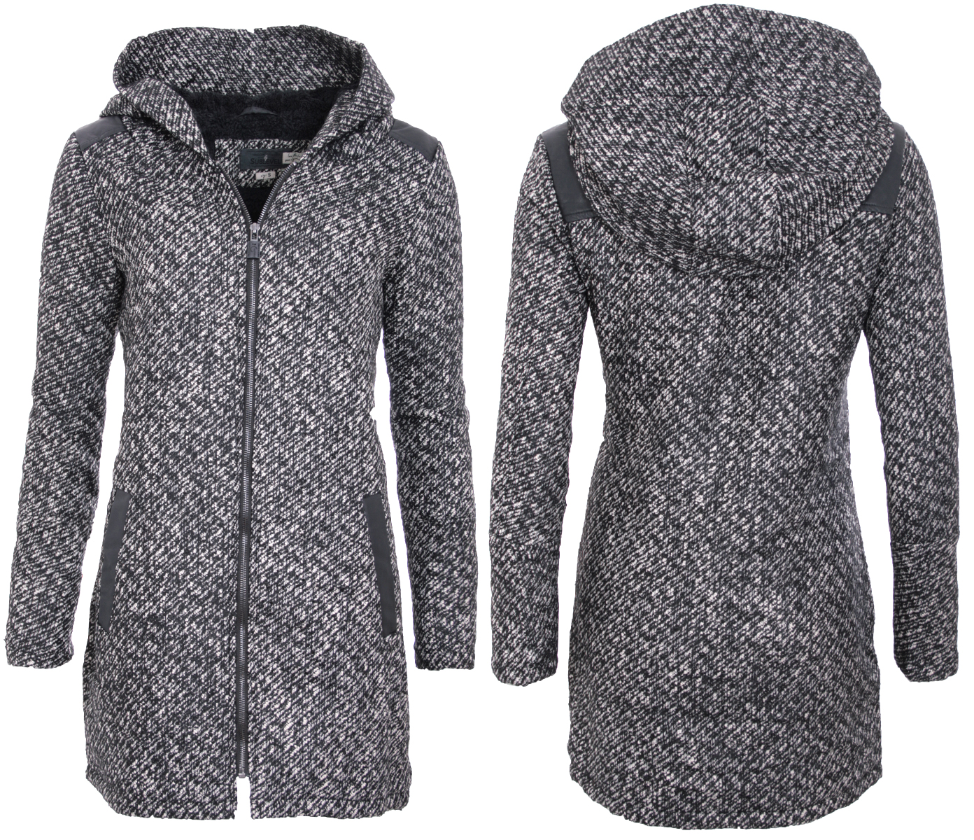sublevel damen winter jacke woll jacke parka winter mantel. Black Bedroom Furniture Sets. Home Design Ideas
