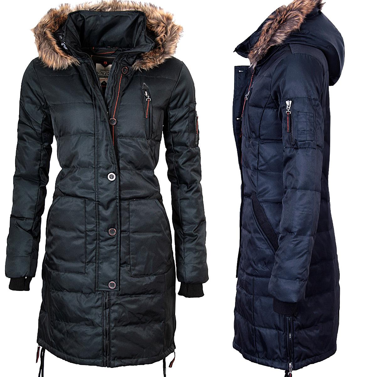 Abrigo largo plumon mujer