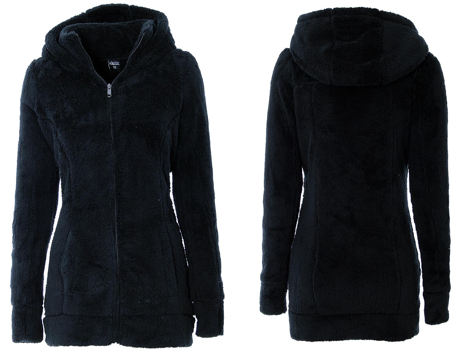 ladies teddy fleece coat long warm fleece jacket hoodie. Black Bedroom Furniture Sets. Home Design Ideas