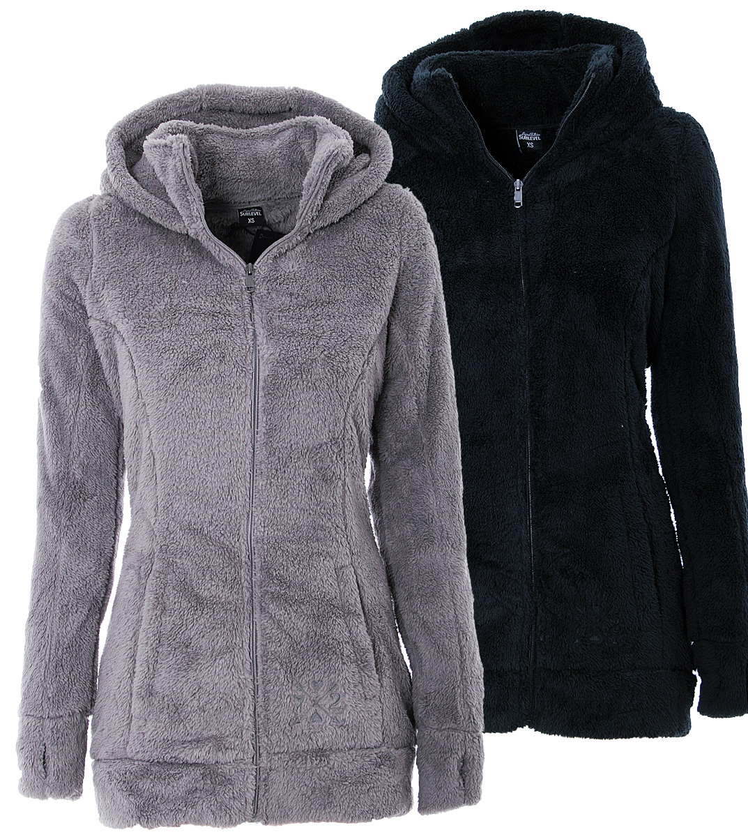 women 39 s teddy fleece coat long warm fleece jacket hoodie. Black Bedroom Furniture Sets. Home Design Ideas