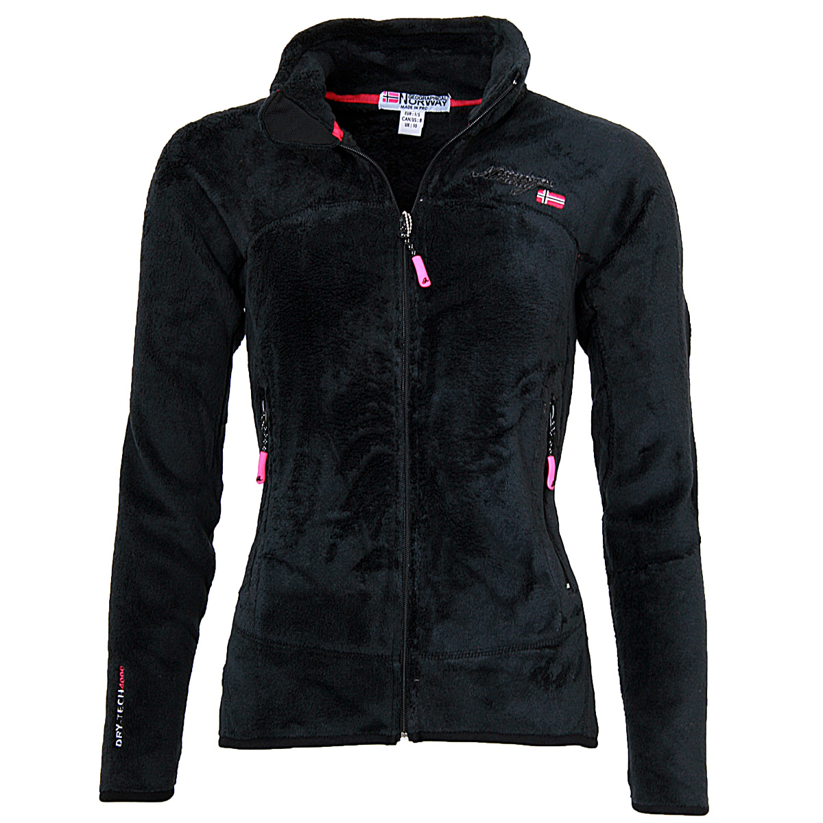 geographical norway damen fleece sweatjacke teddy fleece jacke bergangs jacke ebay. Black Bedroom Furniture Sets. Home Design Ideas