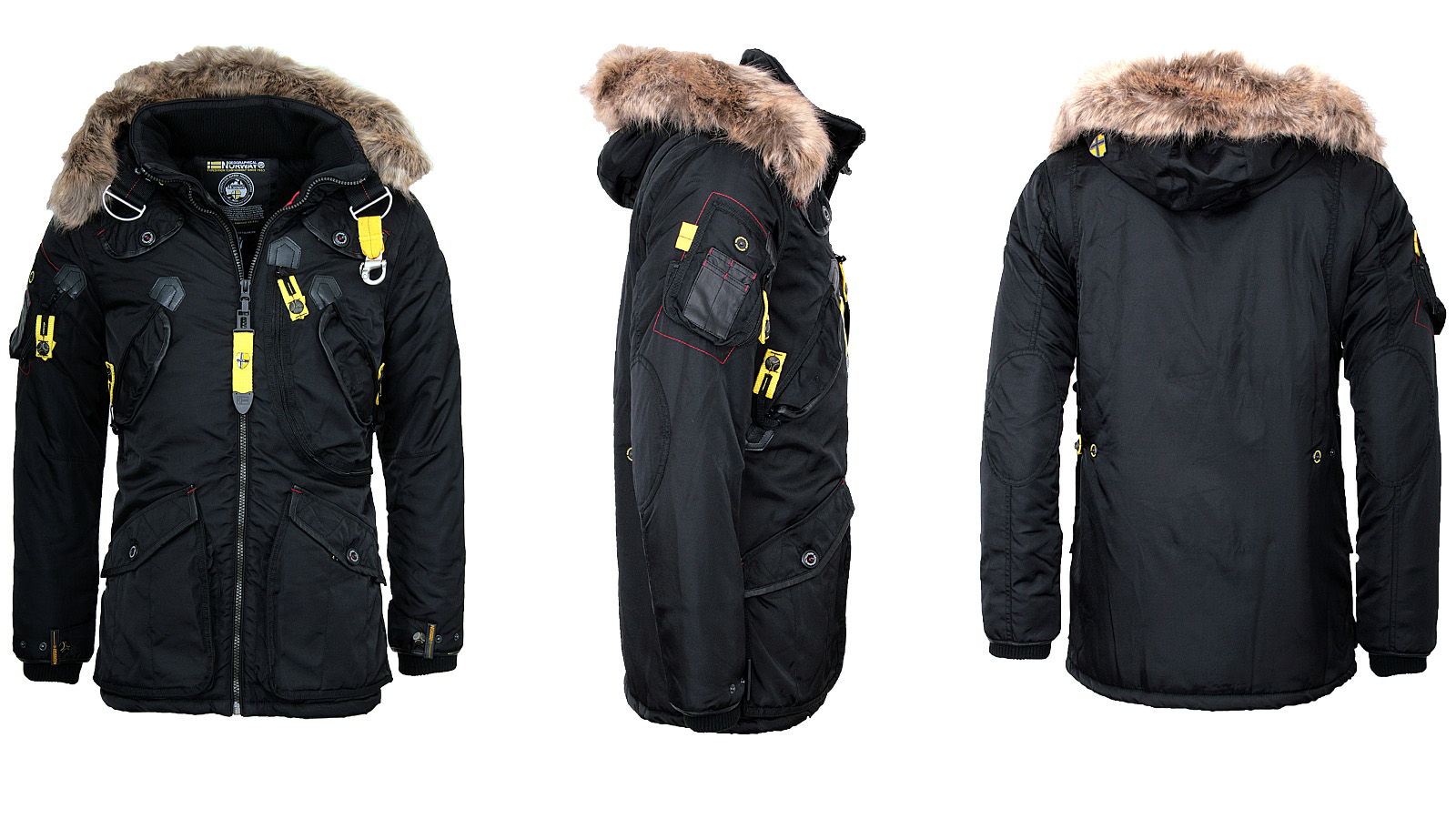 geographical norway warm mens winter jacket parka anorak. Black Bedroom Furniture Sets. Home Design Ideas