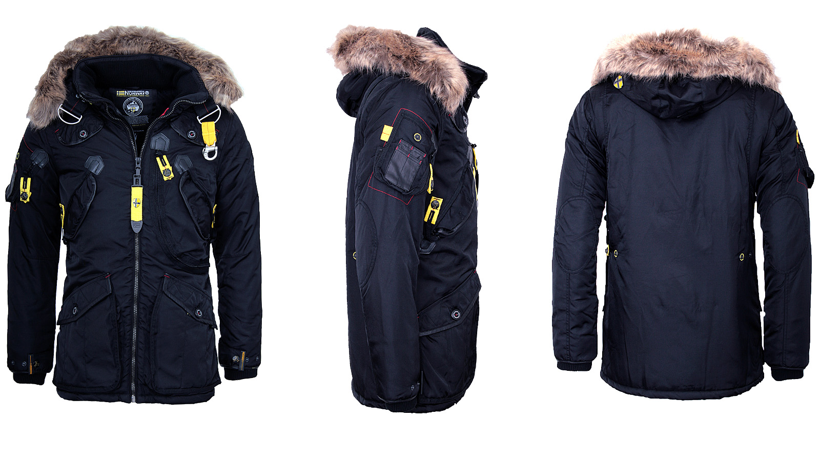 geographical norway warm mens winter jacket parka anorak. Black Bedroom Furniture Sets. Home Design Ideas