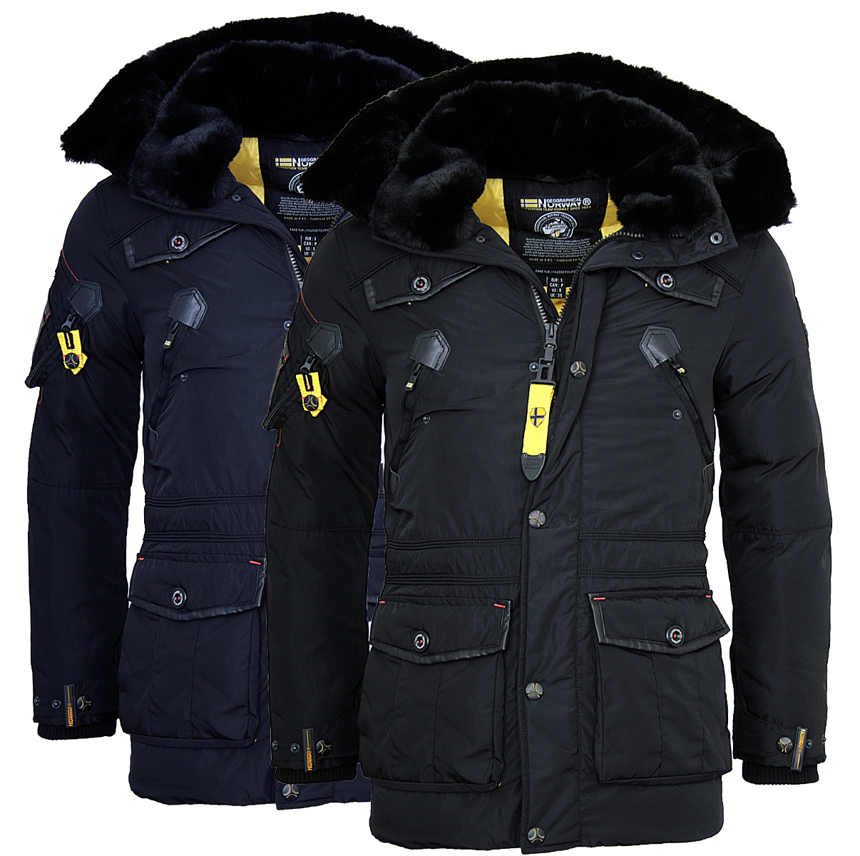 geographical norway warme herren winter jacke parka anorak. Black Bedroom Furniture Sets. Home Design Ideas