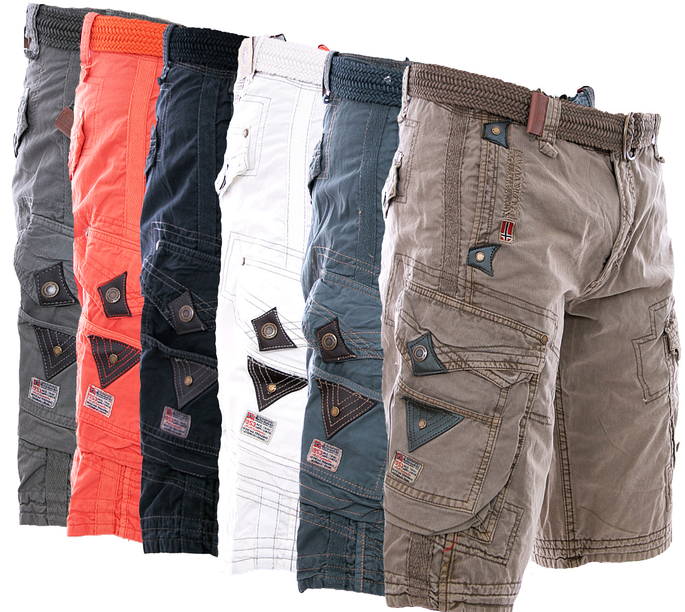 geographical norway cargo shorts pr166 men 39 s shorts bermuda belt. Black Bedroom Furniture Sets. Home Design Ideas