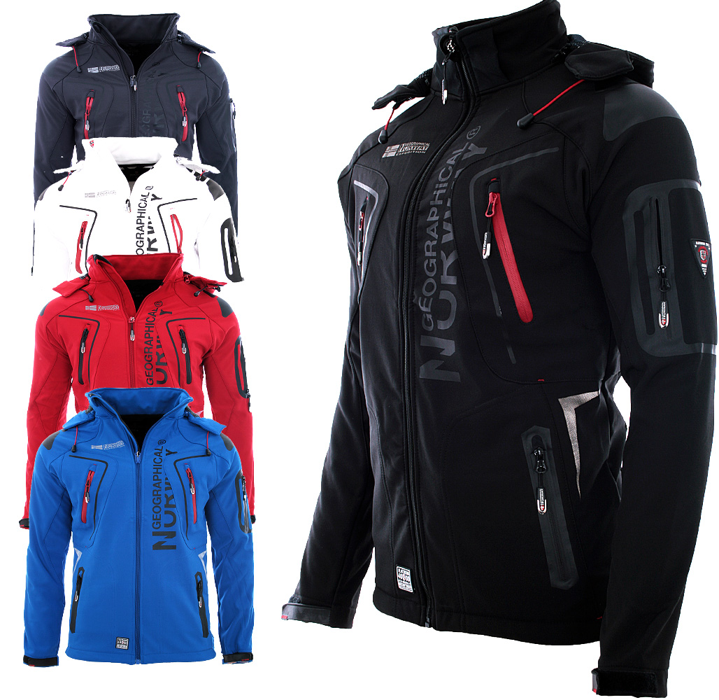 geographical norway men 39 s softshell jacket rain sports outdoor autumn jacket ebay. Black Bedroom Furniture Sets. Home Design Ideas