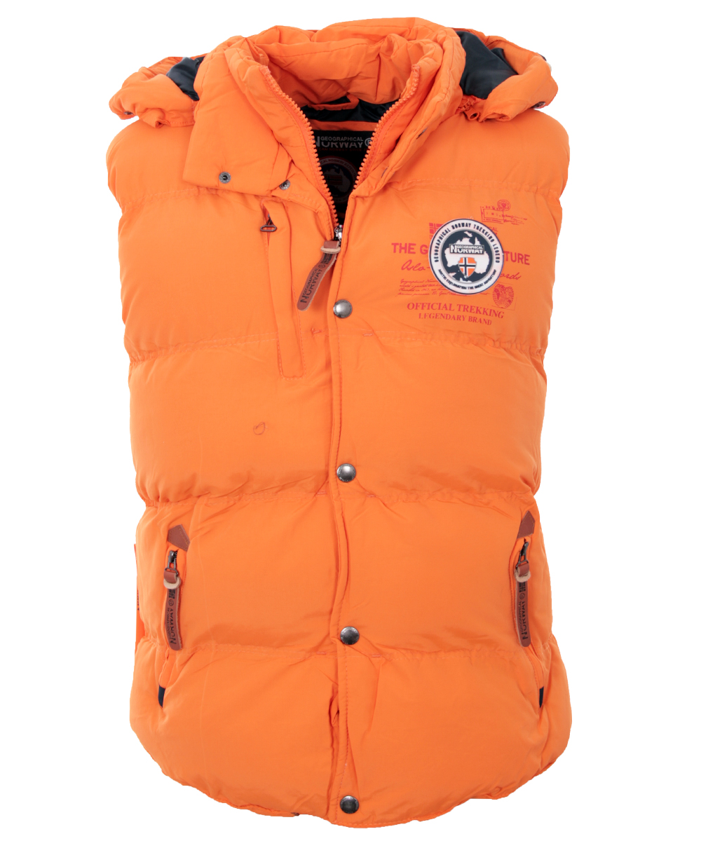 about Geographical Norway Men's Vest sleeveless Hoody Vest Bodywarmer