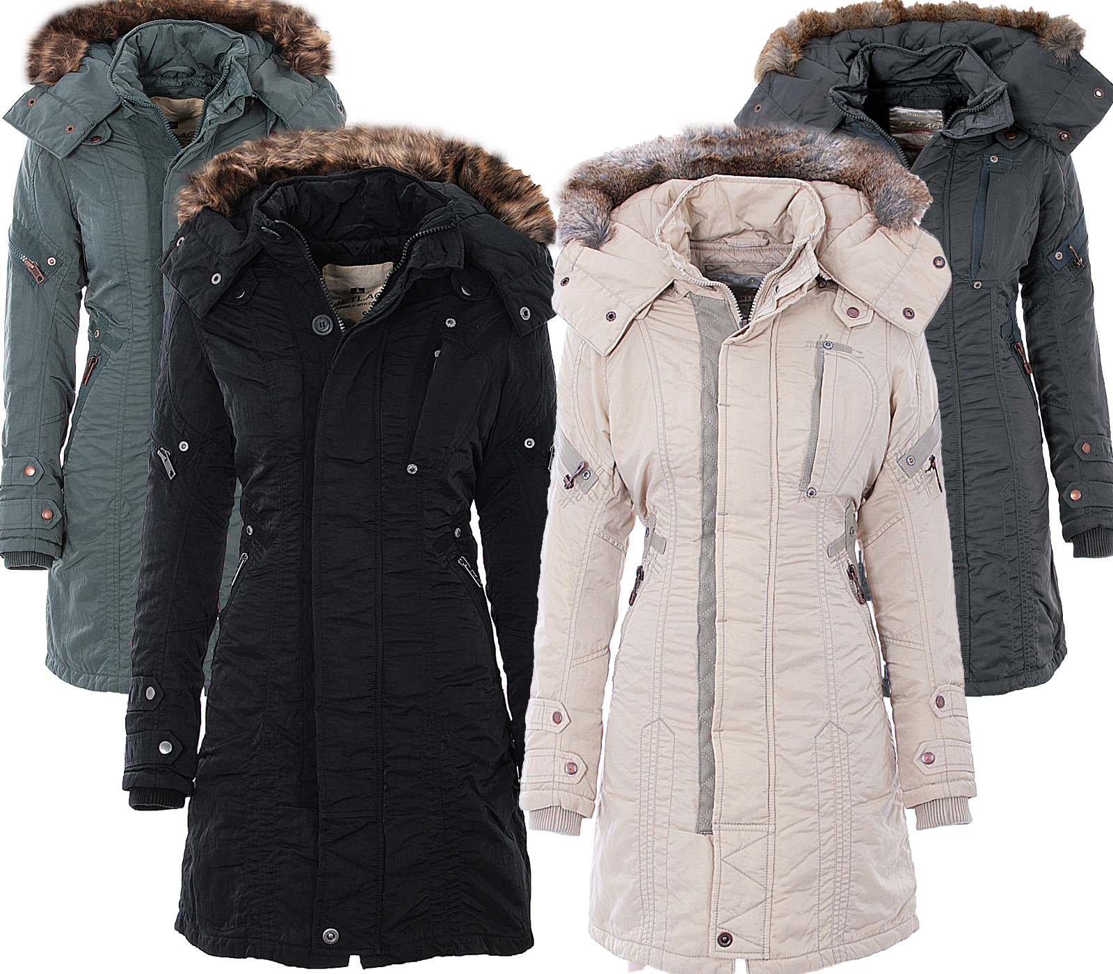 jet lag damen winter jacke mantel parka sw61a outdoor. Black Bedroom Furniture Sets. Home Design Ideas