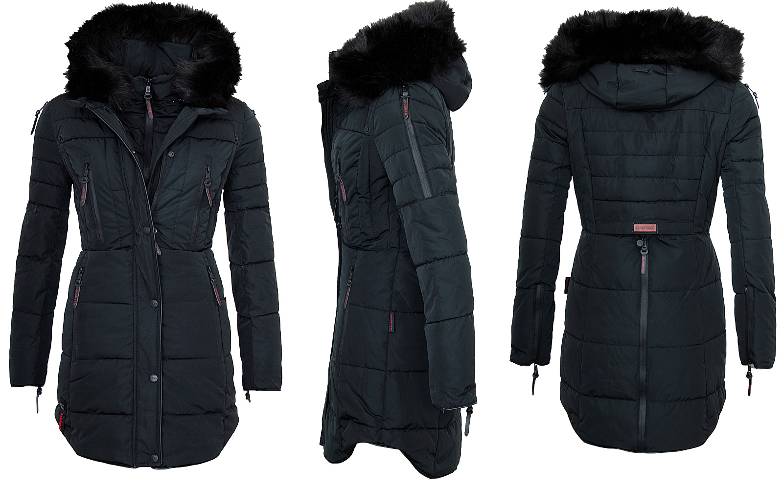 Marikoo Ladies Winter Jacket Winter Jacket Parka Quilted Coat lang