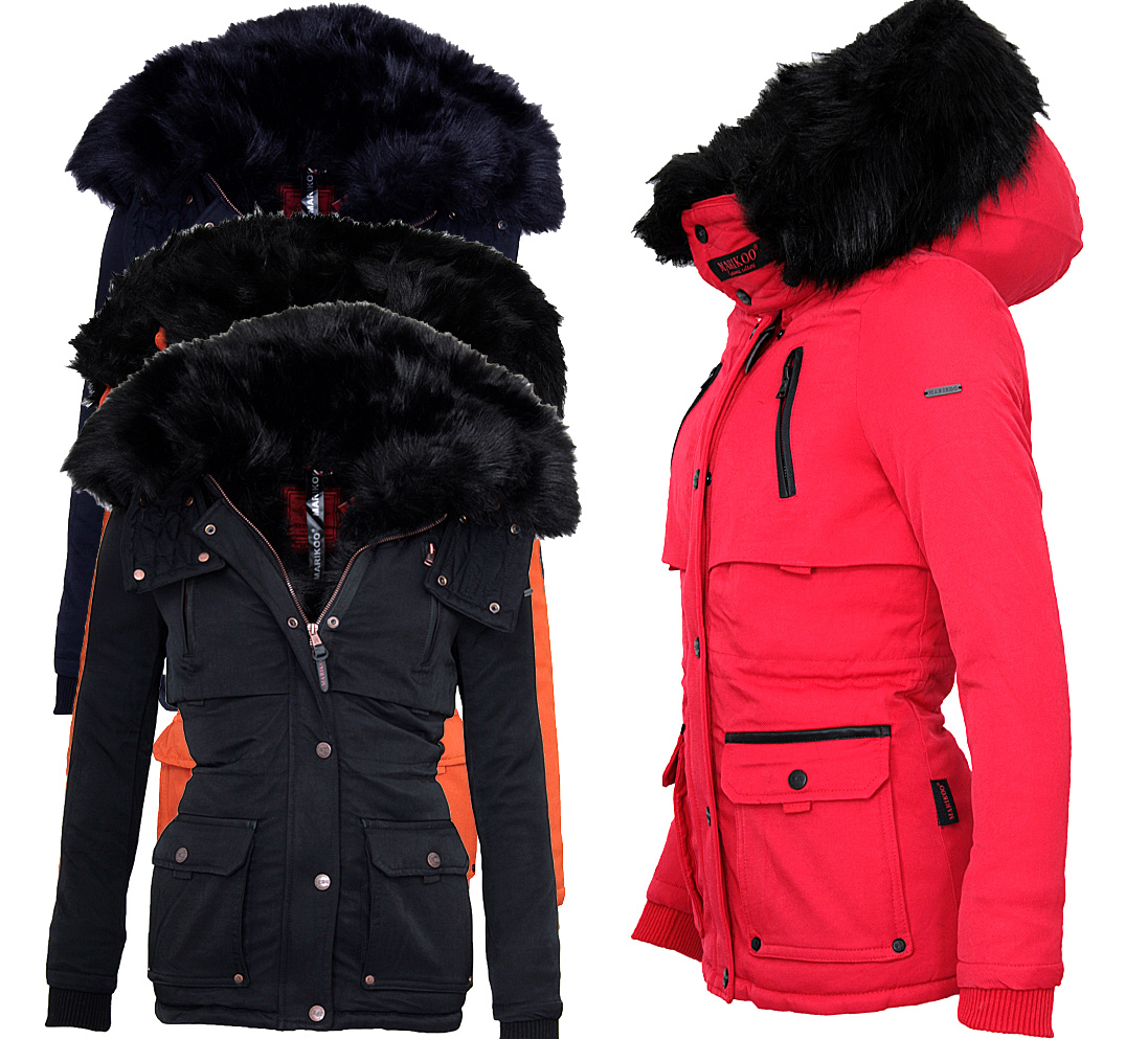 marikoo damen sehr warme winter jacke parka winter mantel. Black Bedroom Furniture Sets. Home Design Ideas