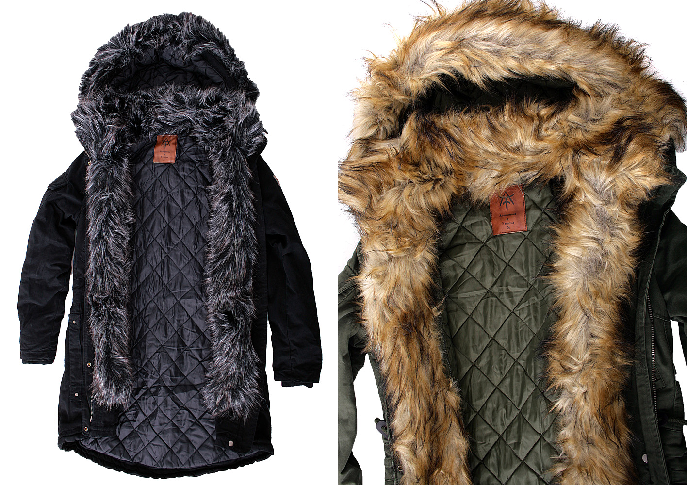 anonymous famous damen winter jacke mantel parka. Black Bedroom Furniture Sets. Home Design Ideas
