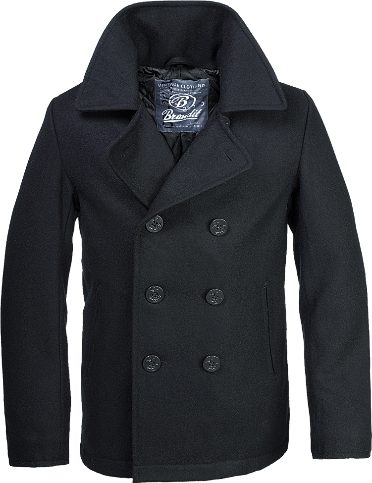 coupe classique original de premier ordre acheter maintenant Détails sur Brandit Homme Laine Manteau Caban Hiver Veste Parka Caban Veste  Marine