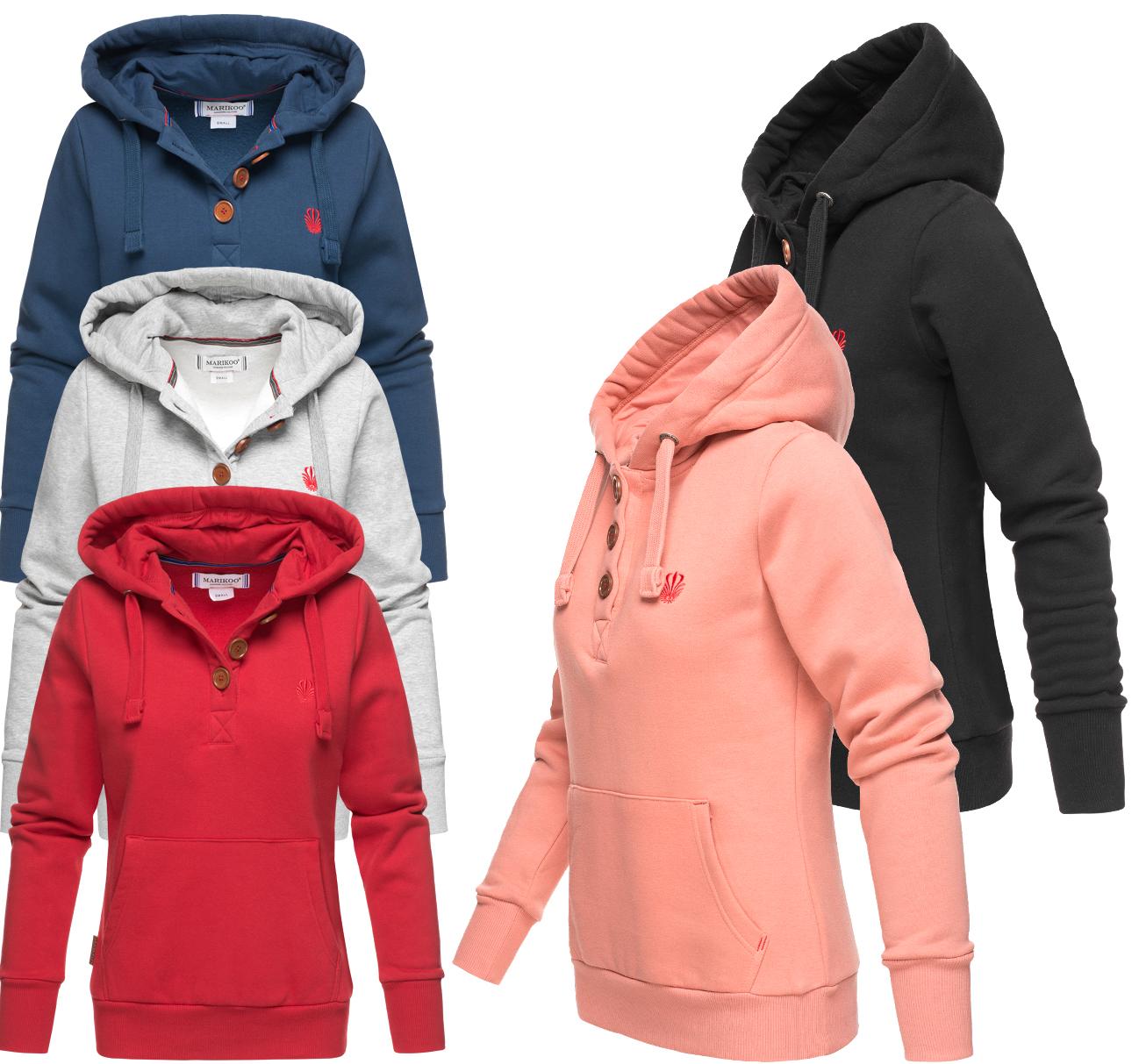 Details zu Marikoo Yuriko Damen Hoodie Sweatjacke Sweatshirt Pullover Sweater Kapuzenpulli