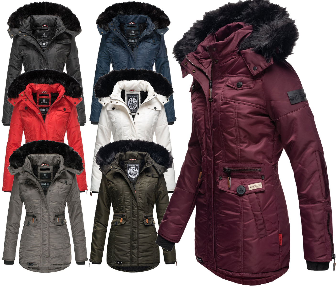 Details about Navahoo Ladies Winter Jacket Winter Parka Coat Outdoor Warm Lining Honey