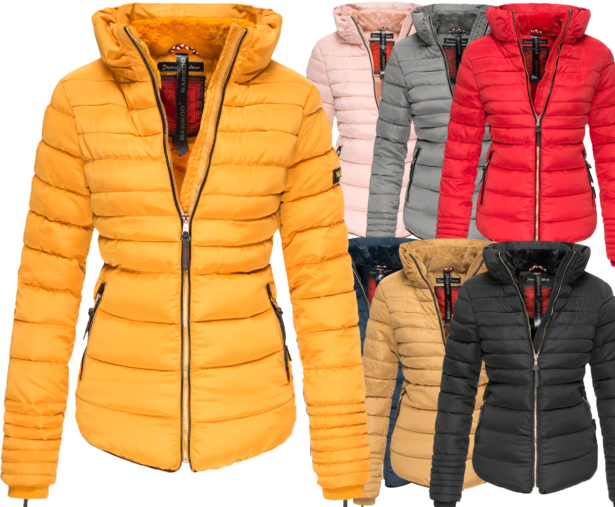 Women Quilted Amber2 Parka Marikoo Jacket Details About Cozy Warm Winter Lining ´s 35ARjL4