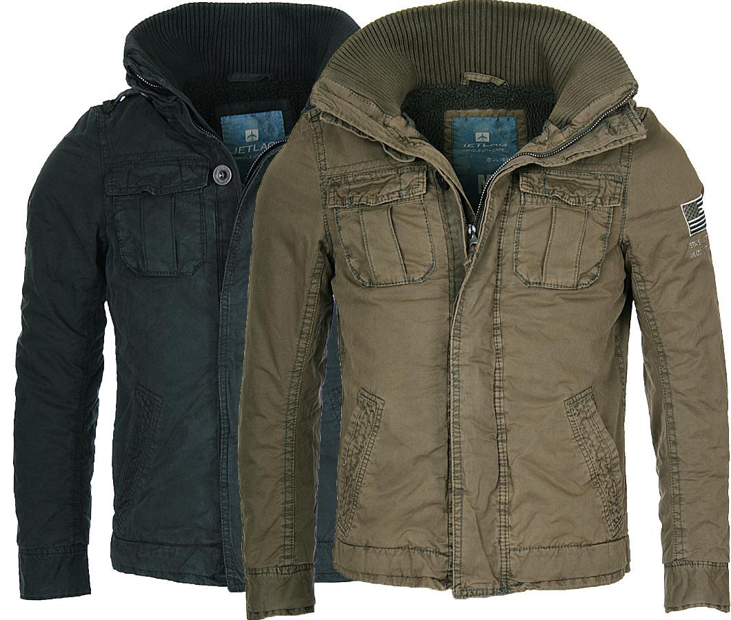Details about Jet LAG Men's Winter Jacket Parka Cotton Jacket Teddy Fur Collar Field Jacket show original title