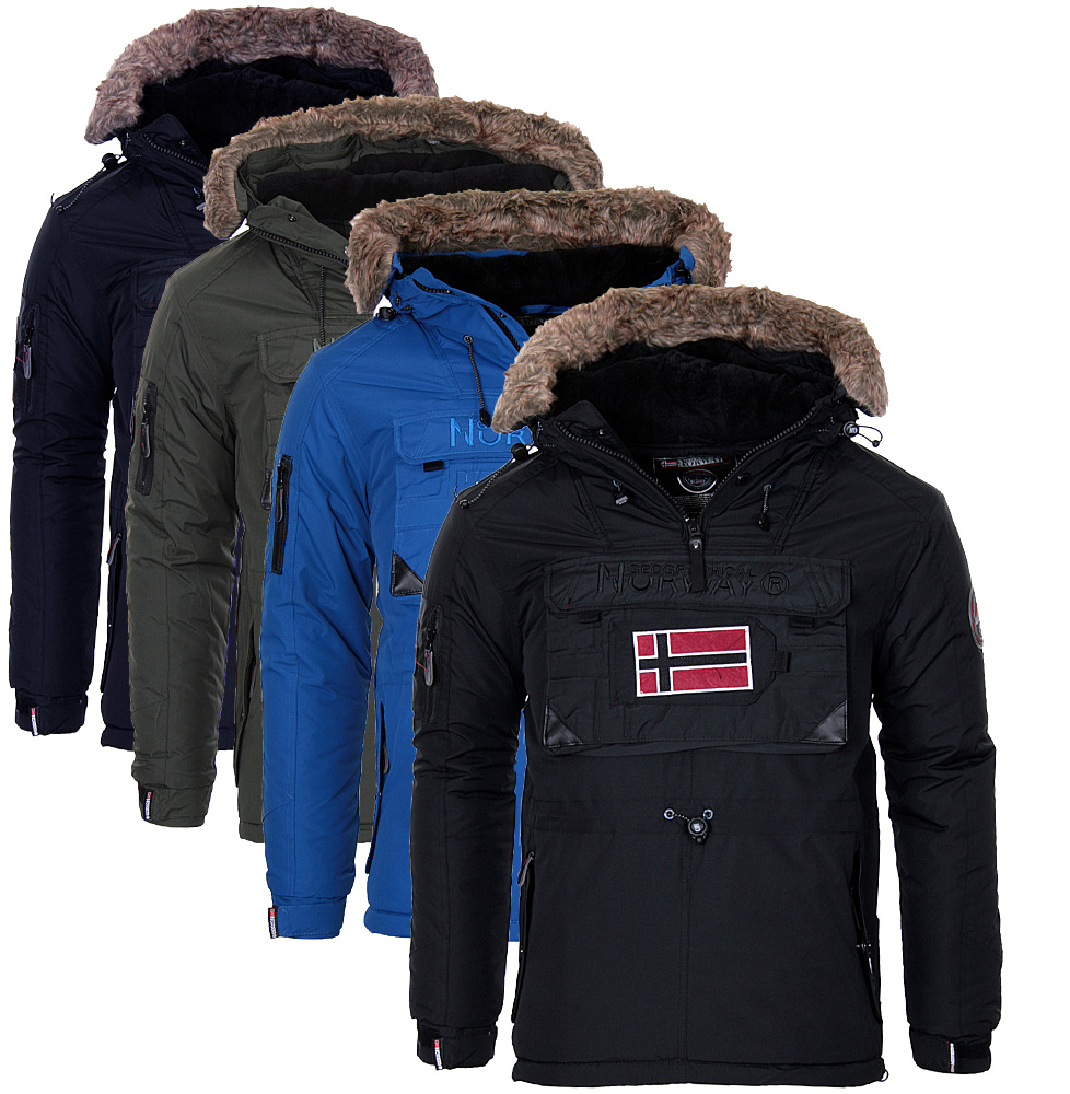 geographical norway herren warme winter jacke schlupfjacke parka windbreaker neu ebay. Black Bedroom Furniture Sets. Home Design Ideas
